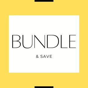 Bundle Items for 15-30% off!